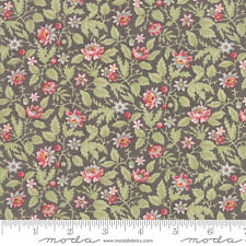 MODA Fabric ~ POETRY ~ by 3 Sister's (44134 12) Charcoal - by the 1/2 yd