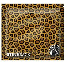 "Stink Sack Smell Proof Storage Bags Leopard Print Design 3 Pack 7"" X 7 11/16"""