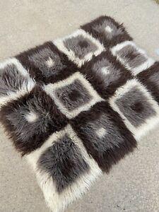 Rare Vintage 1970s Flokati Rug Shaggy 100% Wool Hand made