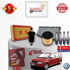 Filtres Kit D'Entretien Huile Bougies VW Touran 1.6 FSI 85KW 115CV à partir de