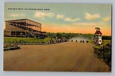 Old Orchard Beach Maine ME Kite Race Track Vintage Linen Postcard 1930-45