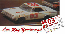 CD_889 #03 Lee Roy Yarbrough   Ray Fox 1964 Dodge  1:64 Scale DECALS