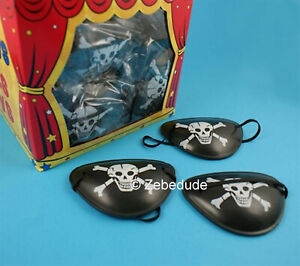 1 2 6 12 Pirate Eye Patches Patch Toy Loot Party Bag Fillers Wedding Kids Skull