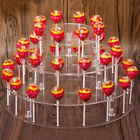 4 Tier Lollipop Holder Cake 35 Holes Display Wedding Stand Base Server Clear