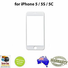 for iPHONE 5 / 5S / 5C - Front Outer Glass Screen Lens - WHITE - Repair Part