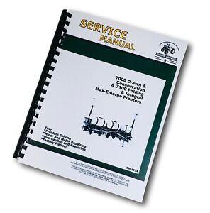 SERVICE MANUAL for JOHN DEERE 7000 7100 4 & 6 ROW WIDE NARROW MAX-EMERGE PLANTER
