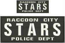 Raccoon City embroidery patch 4x10 and 2x5 hook white and black