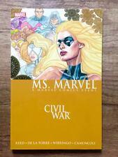 "Marvel Comics MS. MARVEL Vol.2 ""Civil War"" US TPB First Print Rare! OOP"