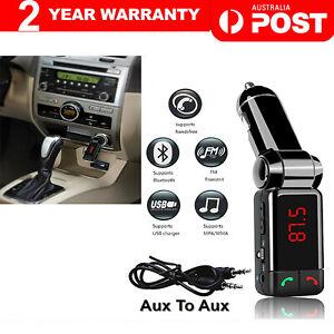 Wireless Bluetooth Car Kit FM Transmitter Handsfree Car Charger MP3 Player USB