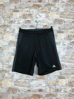 ADIDAS VINTAGE RETRO CASUAL BLACK POLYESTER SHORTS CLIMALITE SIZE MENS MEDIUM