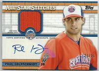 2013 Topps Update PAUL GOLDSCHMIDT All-Star Stitches Relic Autograph Auto #23/25