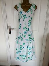 NEW.W.T. FABULOUS FLORAL 53% LINEN  DRESS BY BONMARCHE UK-14 BUST LENGTH 49""