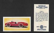 Type Cards: Gower & Burgons Tea:  VETERAN RACING CARS VG+ Cards