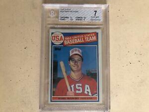 1985 Topps Mark McGwire #401 BGS 7 Near Mint USA Baseball Team Rookie Card