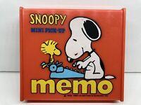 Rare Vintage 1965 Snoopy Mini Pick-Up Memo Pad Case