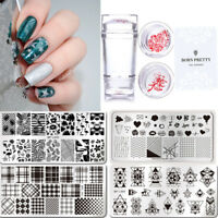 3pcs/kit Nail Stamping Plate Silicone Nail Art Stamper Scraper Set Manicure Tool