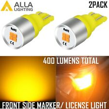 AllaLighting LED 168 Front Side Marker/License Plate Tag Light Bulb Amber Yellow