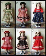robe poupée ancienne SFBJ Jumeau Kestner Halbig Heubach dress antique doll