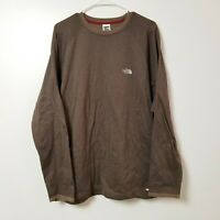 The North Face Mens Long Sleeve Vaporwick Shirt Sweatshirt XL Extra Large Brown