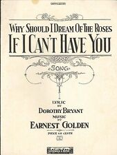 If I Can't Have You Sheet Music Piano Voice Operatic Edition Bryant Golden 1922