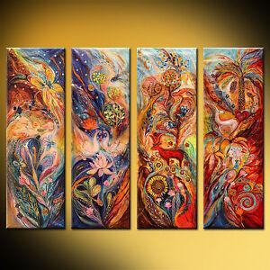 Jewish art fantasy abstract figurative symbolism expressionist Elena Kotliarker