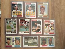 1974 TOPPS BASEBALL 10 CARD LOT - McCovey Marichal Kaline Morgan more HOF Sharp!