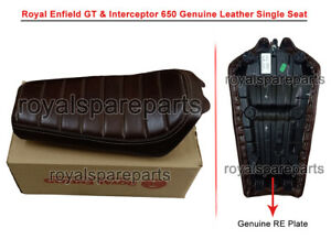 Royal Enfield Interceptor & GT 650 Genuine Leather Single Seat D3