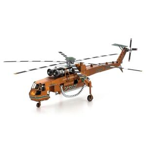 Fascinations ICONX S-64 Sikorsky SKYCRANE Helicopter Metal Earth 3D Model Kit