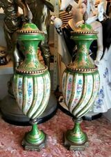 Antique French Porcelain Sevres Style Urns, Couple.