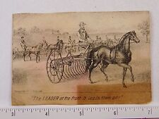 1870s-1880s Steel Engraved Ithaca MF'G Works Leader Plow Farming Horse F56