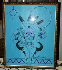 """Sketch Of The Lakota Sprit Signed """"FEATHERS"""" By Artist Of Sprit Lake, ND Tribe"""
