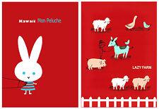 Shinzi Katoh Japan Kawaii Zakka Postcard Set: Mon Peluche Animals