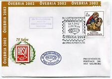 2002 Luftschiffpost n. 30 Pro Juventute Dirigibile OE-ZHY 75 Jahre ABSV OVEBRIA