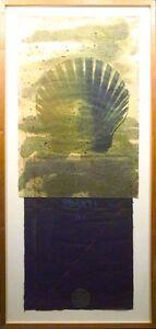 "Scott Sandell ""Watermill"" signed framed mixed media artwork, shell, MAKE OFFER!"