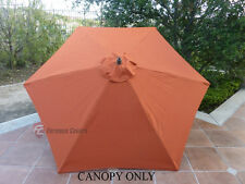 9ft Patio Outdoor Market Umbrella Replacement Canopy Cover Top 6 ribs.Terra
