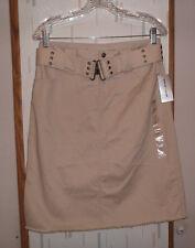DKNY Jeans  Tan Khaki Twill Casual Jeans Style Skirt w Belt Woman's Sz. 6