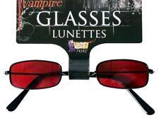 Gothic Vampire Black Red Sunglasses Halloween Dracula Costume Accessor Gothic
