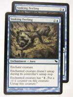 MTG Magic: the Gathering Cards: SINKING FEELING x2: SHM