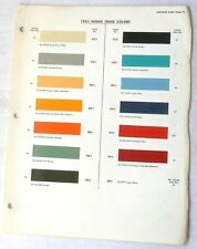 1963 DODGE TRUCK DUPONT COLOR PAINT CHIP CHART ORIGINAL MOPAR