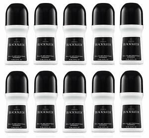Avon Black Suede Roll-On Anti-Perspirant Deodorant - Bonus Size - Set of 10