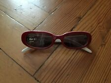 Lacoste red framed sunglasses