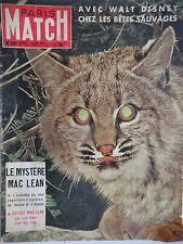 Paris Match n°236- 1953 - Le mystère Mac Lean - Walt Disney chez les Bêtes