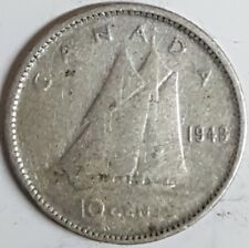 1948 Canadian Silver Dime  ID #7-30