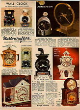 1967 ADVERT Jefferson Golden Hour Clock 500 Electric Mastercrafters Fireplace