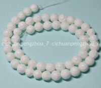 """Natural 8mm White Carving Coral Gemstone Round Loose Beads 15"""" Strand"""