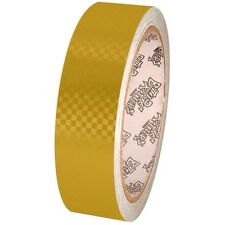 Tape Planet Yellow Carbon Fiber 1 inch x 10  yards Metalized PVC Tape