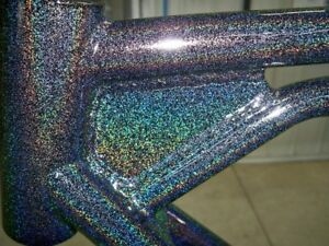 Higloss SPARKLE HOLOGRAPHIC BLACK powder coat paint  6LBS/2.7KG - FREE SHIPPING!