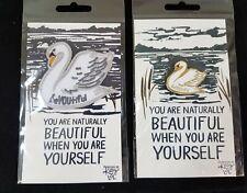 Swan Patch & Pin Set You are Beautiful Stocking Stuffer Gift Idea