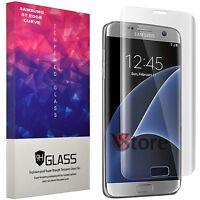 """Pellicola in Vetro Curvo Per Samsung Galaxy S7 Edge G935F Trasparente LCD 5,5"""""""