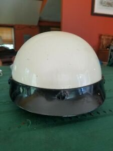 Indian Motorcycle DOT White Half Helmet Size Small Model AF-50 Made 2000 Taiwan
